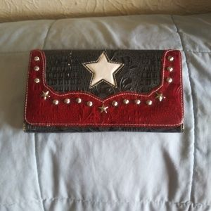 Handbags - Texas Map Wallet with Studs